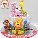 Animals customised cake. A Little CakeShoppe Singapore