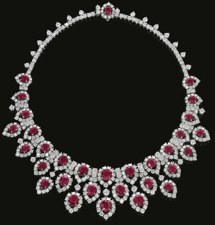 Ruby And Diamond Necklace Circa 1963 Bulgari Bvlgari