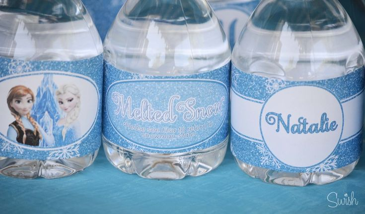 Frozen Printables - water bottle labels - melted snow ...