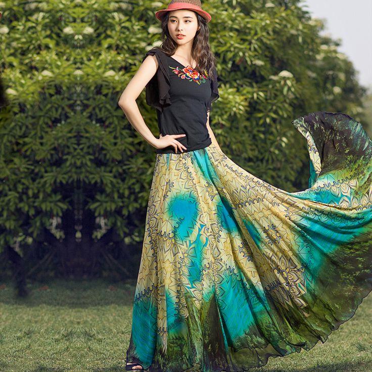 Full Length Skirt Summer Chiffon | Dresscab