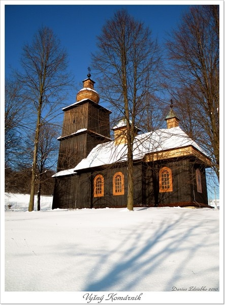 Slovakia, Vyšný Komárnik - Wooden church