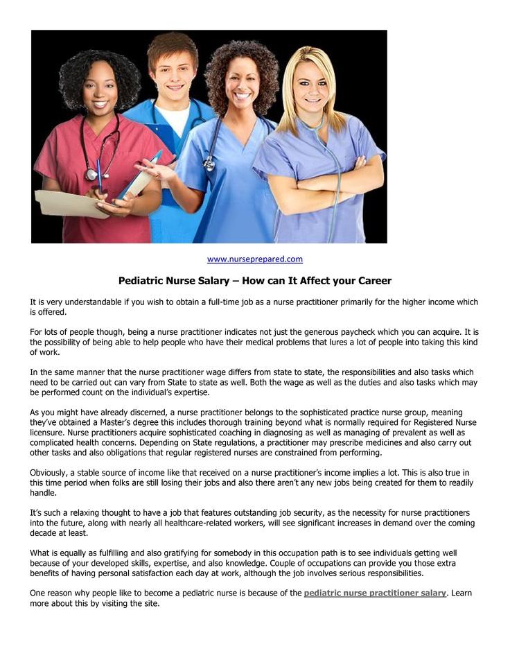 Best 25+ Pediatric nurse salary ideas on Pinterest