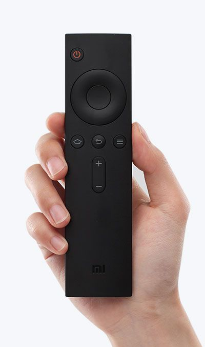 Remote, plastic, black, button