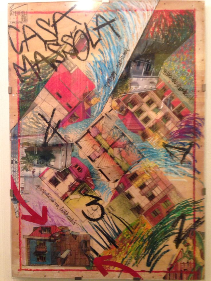 Collage on wood 2