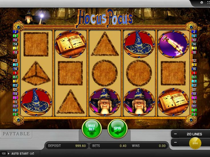 Lass uns unsere Neusten drehen online Spielautomaten Spiel Hocus Pocus - http://freeslots77.com/de/hocus-pocus/