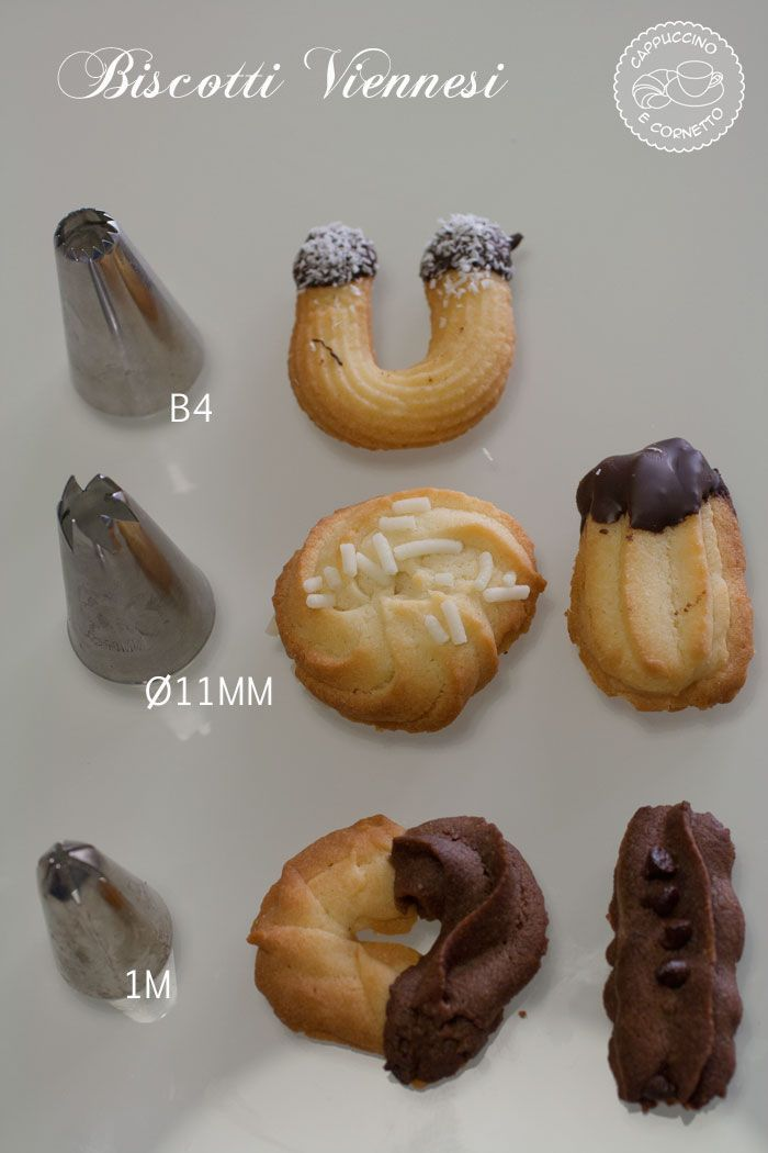 Biscotti viennesi e bocchette sac a poche