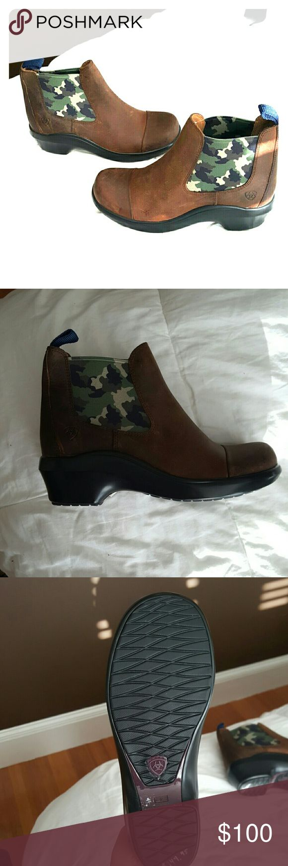 Ariat Leather Chelsea camo shoes Brand new Ariat camo Chelsea shoes. Never worn, and very cool! Ariat Shoes