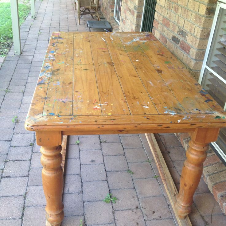 Dining room table pre refabbing