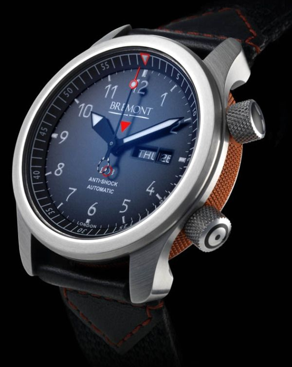 Bremont MB Watch w. orange side #bremont British Watchmakers London #horlogerie @calibrelondon