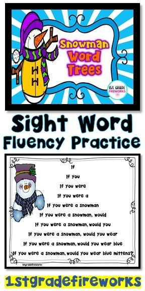 Sight Word FLUENCY practice! Fluency Practice with Sight Words. Students practice reading a sentence word by words, phrase by phrase, until they have read the complete sentence. Great practice for students who need scaffolding. Reading practice, sight word practice, and fluency modeling. Small groups, interventions, one on one, independent practice. Snowman- winter themed.