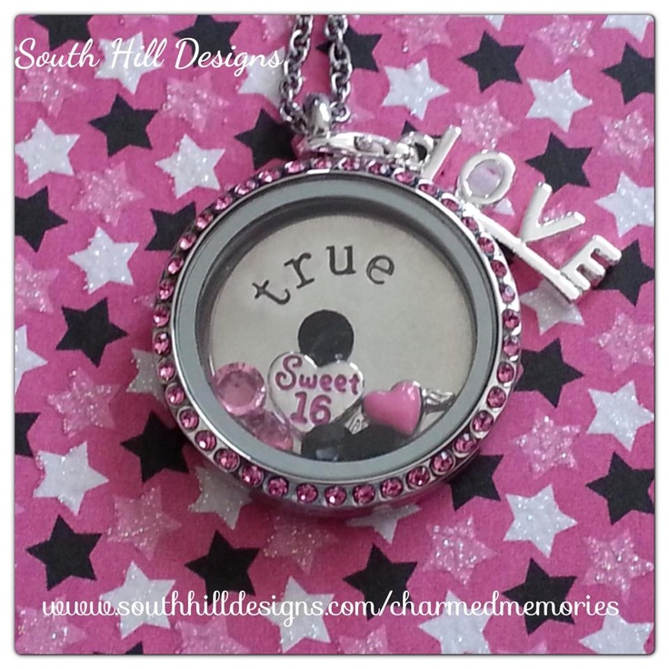 A girls sweet 16 only happens once! Make is special with a locket from South Hill Designs!  www.southhilldesigns.com/charmedmemories