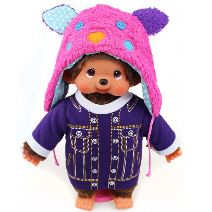 """Goedkope 45 cm monchhichi poppen mode jurk hoed beer 17 """"grote babypoppen zachte gevulde pluche toys meisje verjaardag valentines gift, koop Kwaliteit poppen rechtstreeks van Leveranciers van China: kawaii kinderen speelgoed baby speelgoed anime knuffeldier kawaii pluchezachte speelgoed anime pluche knuffel speelgoed"""