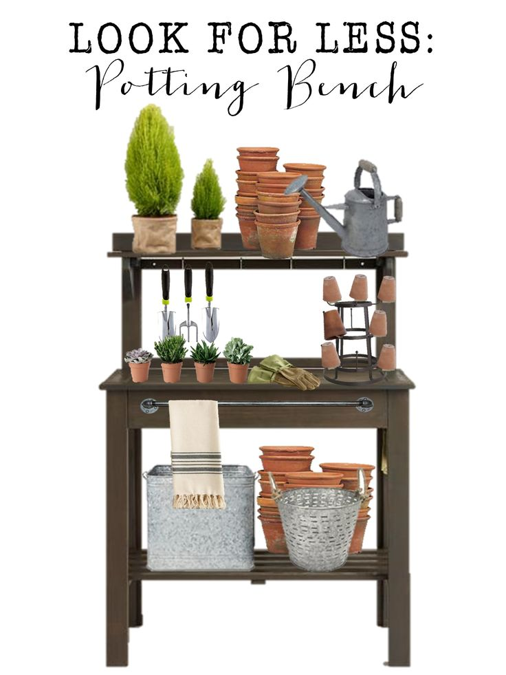 potting bench love look for less house of hargrove potting benchesgarden furniturefor - Garden Furniture 4 Less