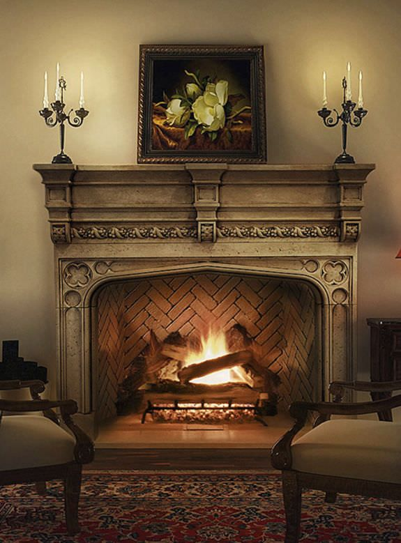 136 best images about fireplaces on pinterest stove for Tudor style fireplace