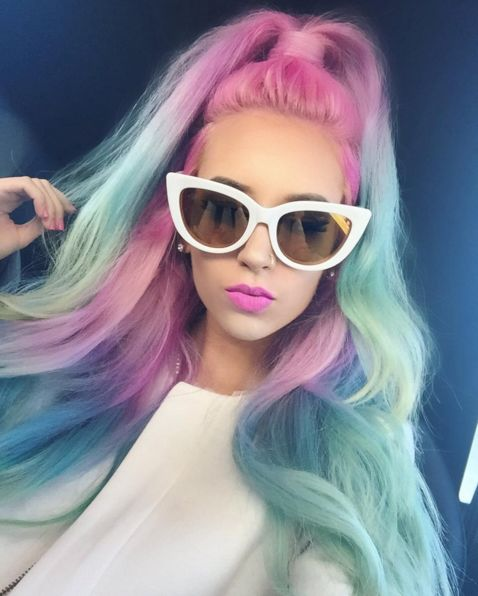 Marvelous 1000 Ideas About Multicolored Hair On Pinterest Hair Long Hair Short Hairstyles Gunalazisus