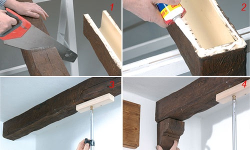 Travi finte idee e trucchi tecniche fai da te ww for Travi in legno finte