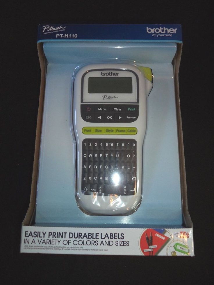 BROTHER PT-H110 P-TOUCH  LABEL MAKER  NIB BATTERY OPERATED HAND HELD PORTABLE #Brother