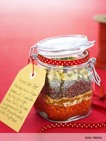 Soup in a JarHoliday Gift, Jars Gift, Food Gift, Homemade Christmas Gift, Lentil Soup, Gift Ideas, Lentils Soup, Christmas Gifts, Homemade Gift