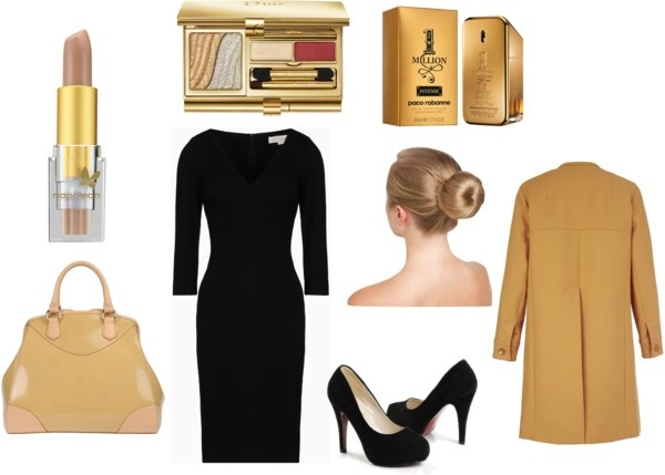 """""""Business chic beige and black 1"""" by happybirddesign on Polyvore"""