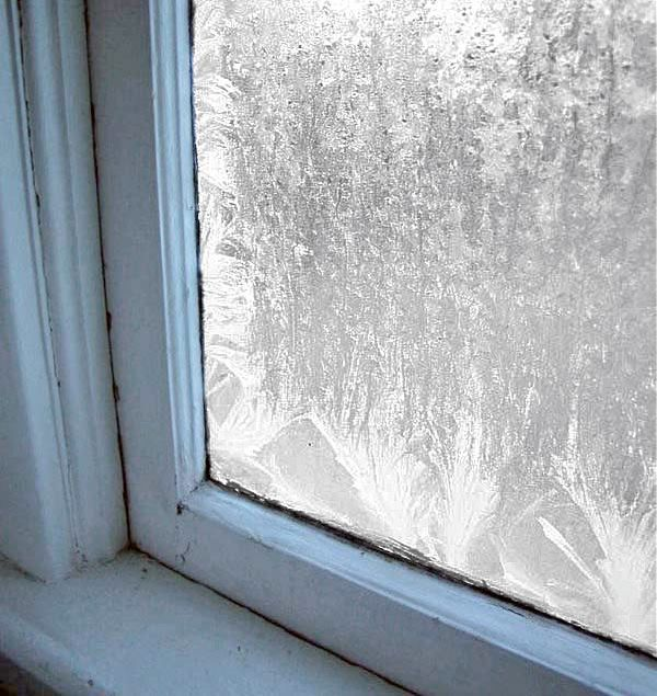 Do you remember waking up on a bitter cold winters morning and you windows looked like this...on the inside?