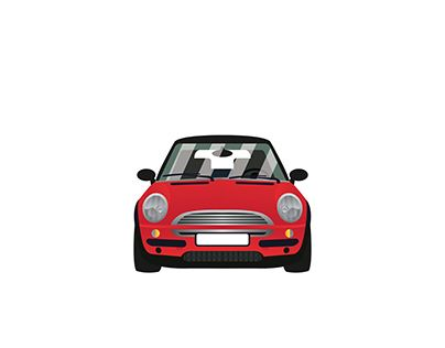 """Check out new work on my @Behance portfolio: """"My little red mini cooper"""" http://be.net/gallery/53675723/My-little-red-mini-cooper"""