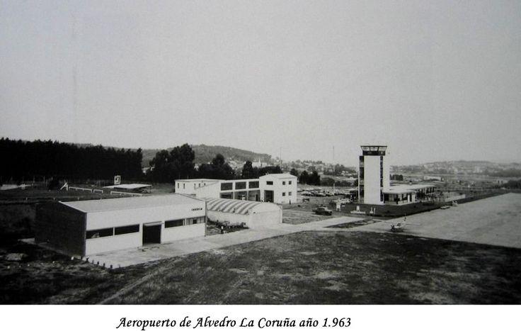 Aeropuerto de Alvedro La Coruña año 1.963