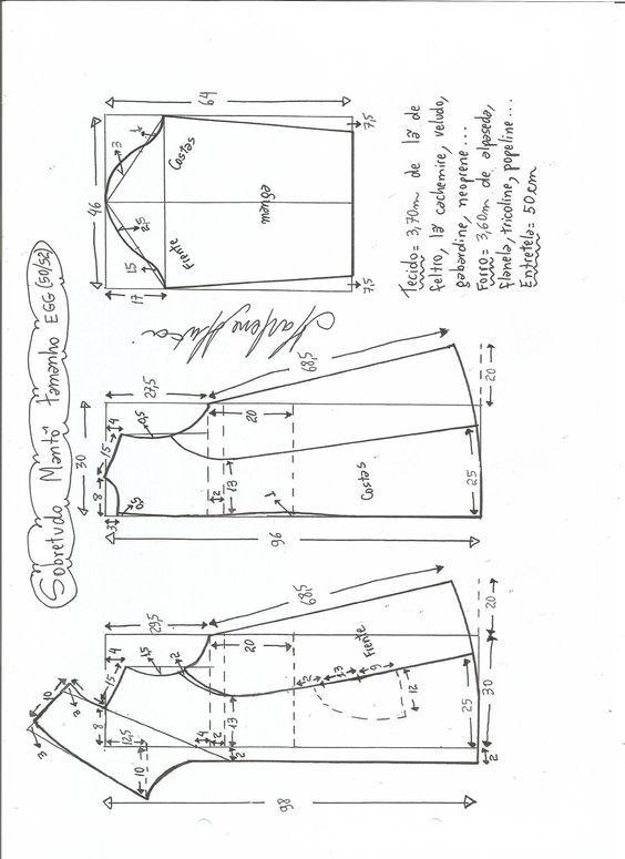 Patrón Abrigo especial embarazadas | moldes | Patrones, Costura y Moldes