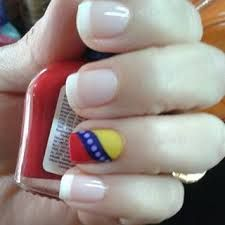 uñas decoradas bandera de venezuela