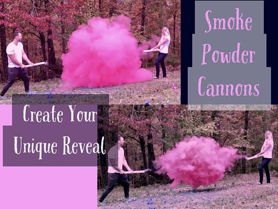 Smoke Bomb Cannon Gender Reveals Ships Same Day Order Before 2pm The Story We Love Gender Reveal Smoke Baby Shower Gender Reveal Baby Gender Reveal