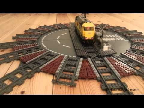 are you a lego train fan do you like large lego train layouts then check out this lego train turntable roundhouse