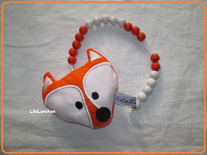 Rechenhilfen - Rechenfuchs Rechenkette Fuchs, Name möglich - ein Designerstück von LilaLunchen bei DaWanda