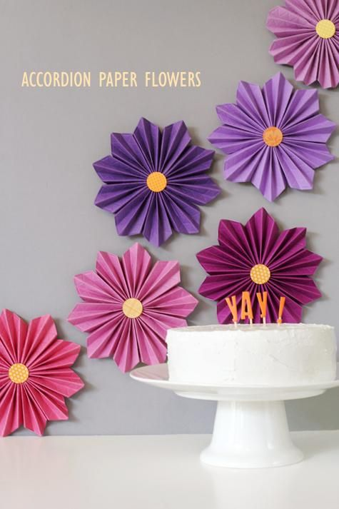 DIY Tutorial: DIY crepe paper flowers / DIY accordion paper flowers [fiskars hexagon blog hop] - Bead&Cord                                                                                                                                                                                 Más