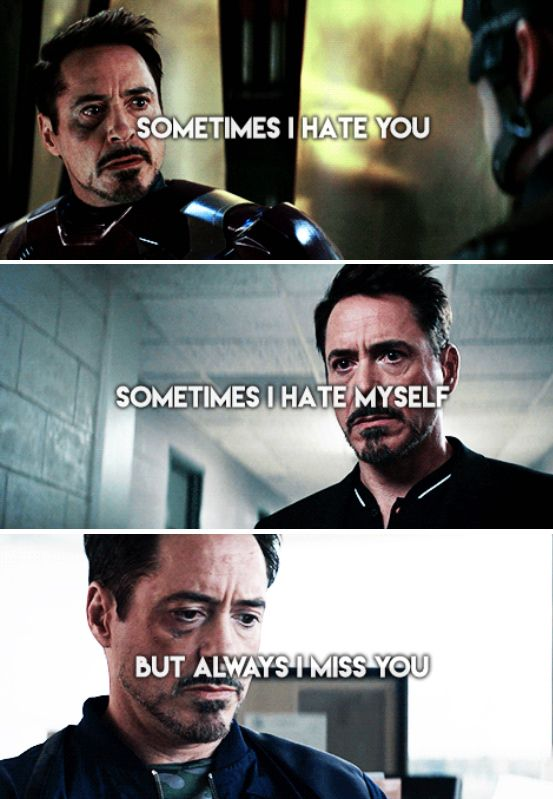 "Tony Stark (and Steve Rogers) - ""Captain America: Civil War"" - excuse me while I weep..."