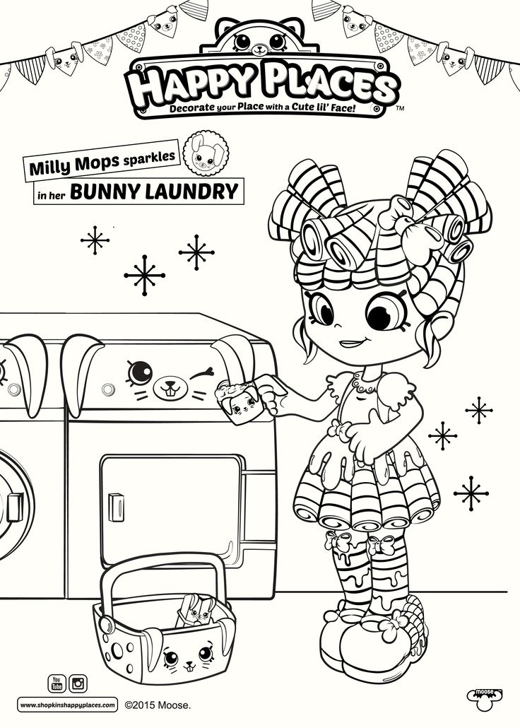 Shopkins Happy Places Coloring Pages Colouring Printable Books Sheets