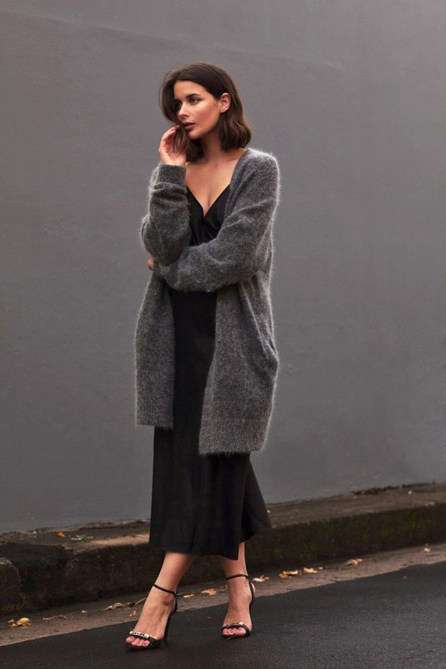 Get This Australian Blogger's Sexy Take On A Cozy Cardigan