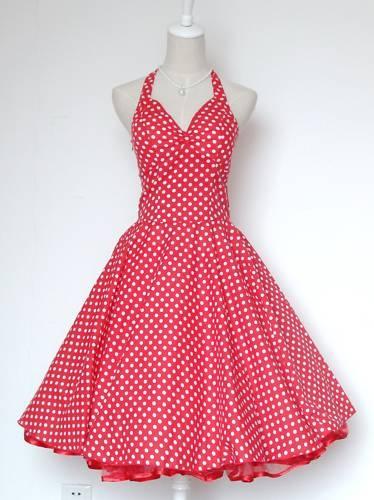 50s Pinup Vintage Rockabilly Floral Swing Dress