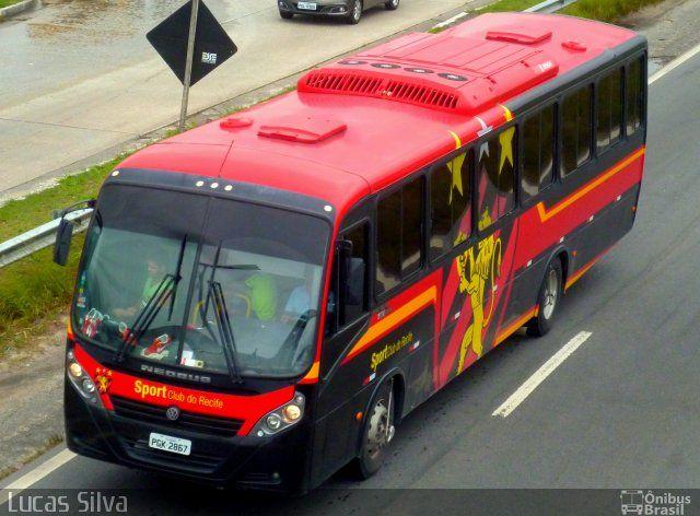 Ônibus da empresa Sport Club do Recife, carro Sport Clube do Recife, carroceria Neobus