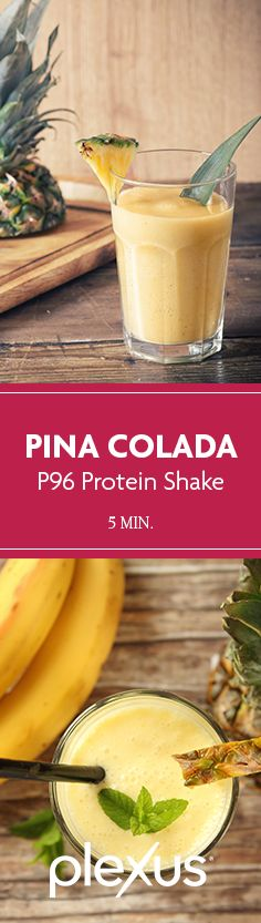 If you like Pina Coladas and getting caught in the rain…then you'll LOVE this Plexus 96® Pina Colada Protein Shake.