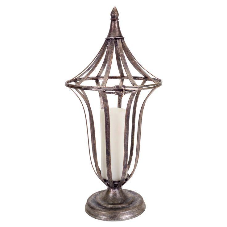Melrose International Open Antique Lantern Candle Holder - 60615