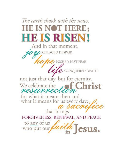 "Easter typographic illustration.  Free printable for 8"" x 10"" frame."