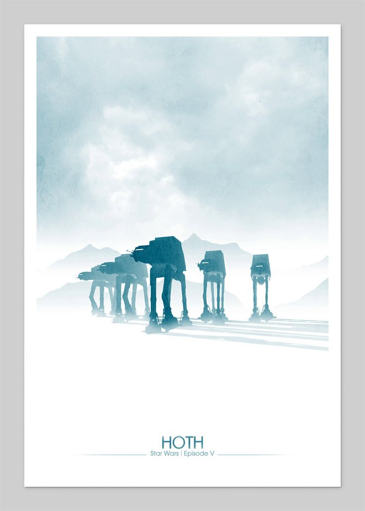 Starwars Hoth Inspired 13x19 Inch Graphic Print. via Etsy.