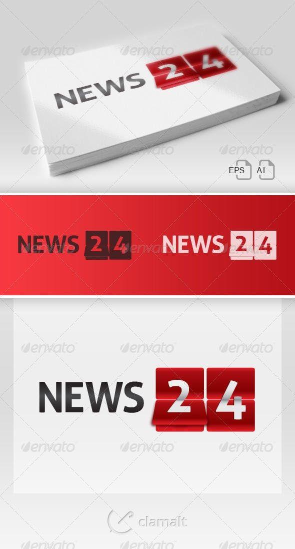 News 24 Logo - Numbers Logo Templates | Numbers Logos