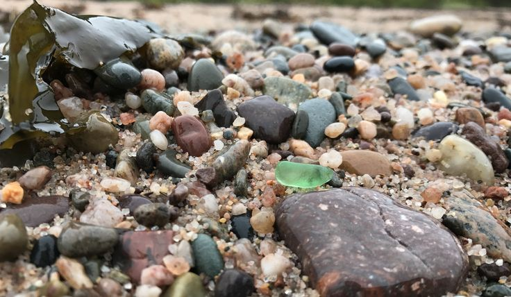 The best beaches for collecting sea glass in Digby County, Nova Scotia.