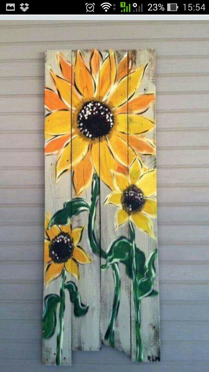 57 Best Sunflowers Painted On Wood Images On Pinterest