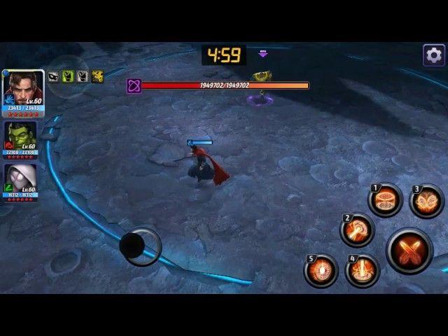 Marvel Future Fight - Dr. Strange Vs. Thanos (no Strikers) - Video --> http://www.comics2film.com/marvel-future-fight-dr-strange-vs-thanos-no-strikers/  #DoctorStrange