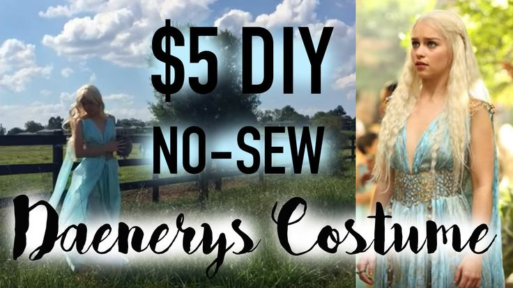 ✩ $5 DIY Daenerys Qarth Dress / Game of Thrones Cosplay Costume