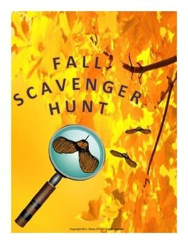 $3 Pre-K- grade 3 Looking for a way to enjoy the outdoors this Fall? This scavenger hunt could provide a wealth of opportunities for active fun and it will satisfy the students' natural urge to explore and learn about the world in which they live. This activity is also great for word recognition and can open the door to discussions about nature, how seasons change, Fall sports and activities, safety in and around water, etc. Re-pin for later!!!