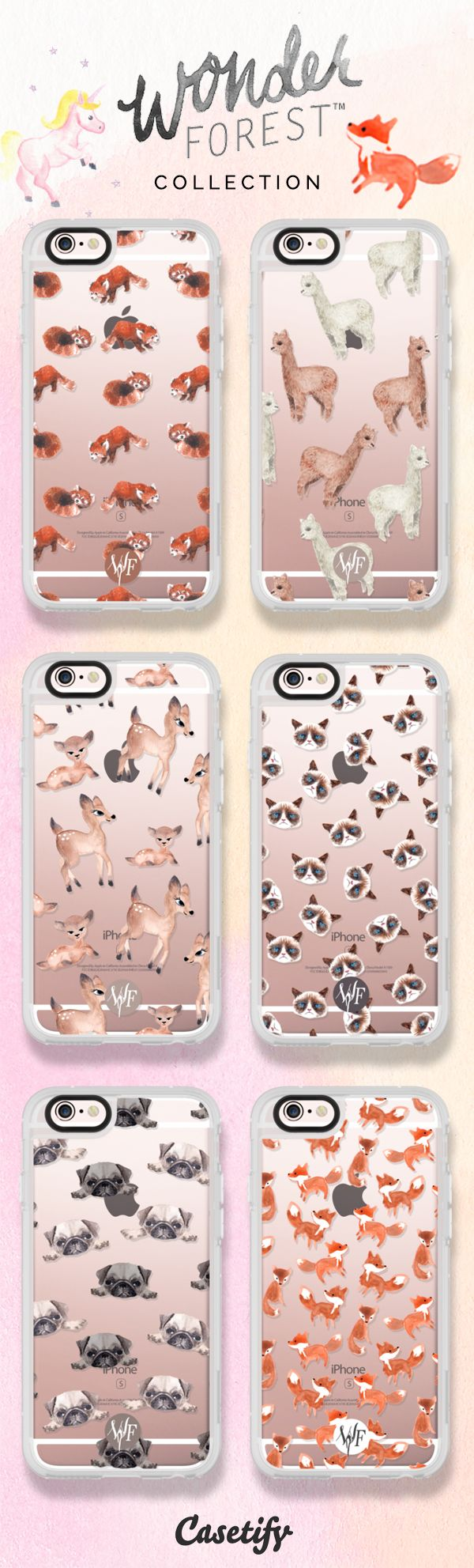 6 most popular animal iPhone 6s protective phone case designs by @wonderforest | Click through to see more forest animal iphone phone case ideas >>> https://www.casetify.com/wonderforest/collection | @casetify