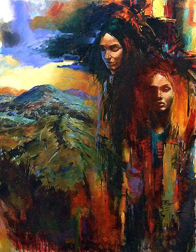 New Zealand Portrait and figurative Artist Paul Hooker   New 2013 Cherish the Land   Acrylic on Canvas 122cm x 91cm
