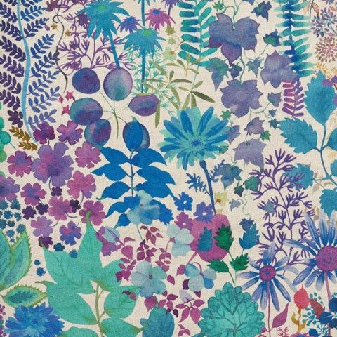 Liberty Art Fabric Fresco Linen in Lagoon - Gaudion Furniture  - 1